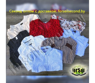 Одежда секонд оптом - блузки, рубашки.